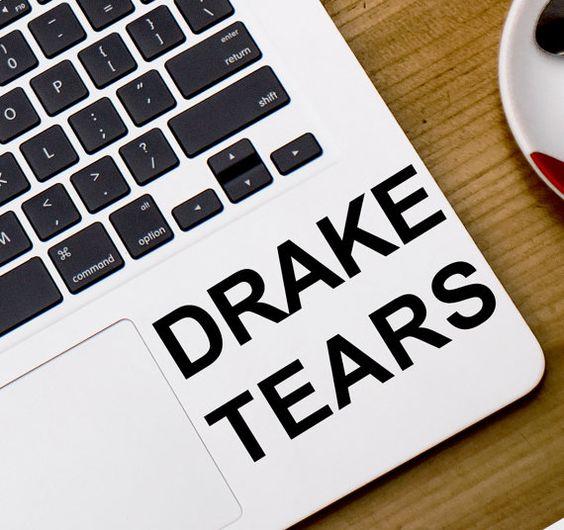 Drake Tränen Vinyl Aufkleber