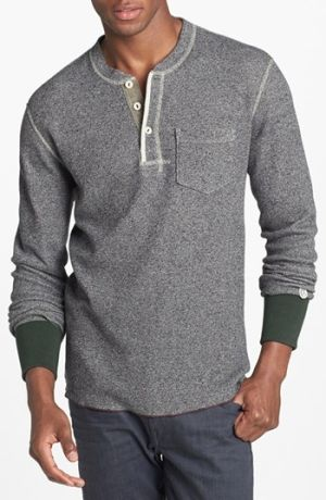 A slim three-button henley with surged seams and ribbed contrast trim is inspired by archival Champion pieces and vintage photos from the New York Athletic Club. The style features an authentic 1950?s Champion label with ?T.SNYDER? stenciled in the back-reminiscent of the Cham... $115.00 by nordstrom