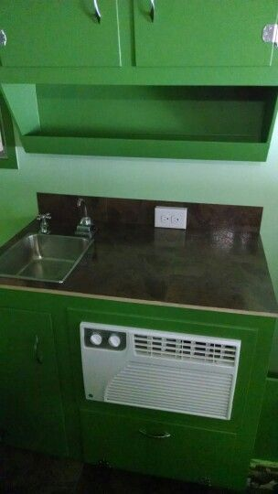 New sink, counter,electric , a.c.