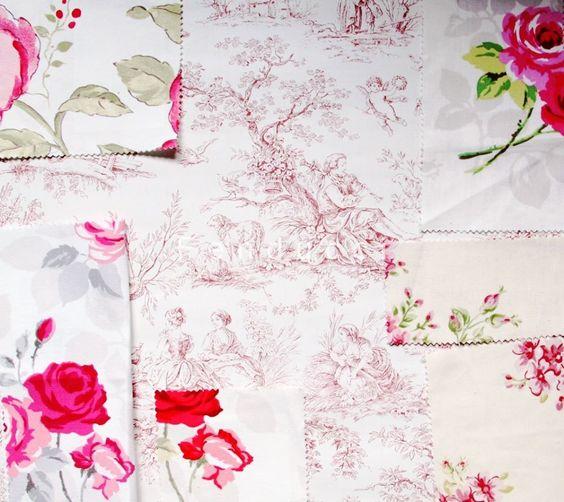 papier peint toile de jouy aquitaine coloris bordeaux et de magnifiques tissus fleurs pour une. Black Bedroom Furniture Sets. Home Design Ideas