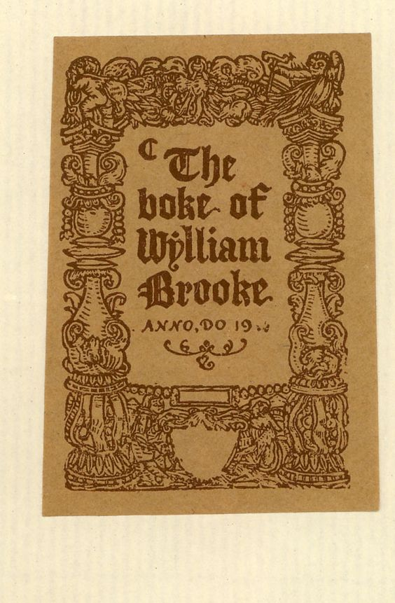 BOOKTRYST: Bookplates in a Printer's Library, Part II