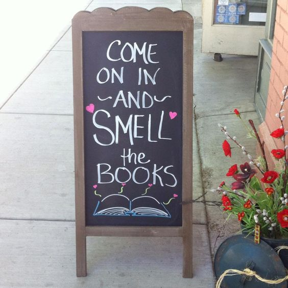 Come smell the books! at Out West Books, Grand Junction, CO: