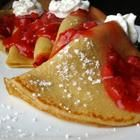 Simple crepe recipe. Make your own filling. Try stuffed with apple slices sauteed in butter, cinnamon, nutmeg & a little sugar.