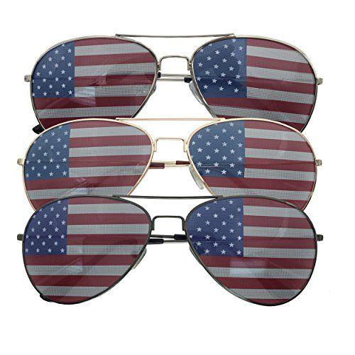 3 Pack Bulk Usa America Glasses American Flag Aviator Sunglasses In 2020 Aviator Sunglasses Unisex Accessories Aviator Glasses