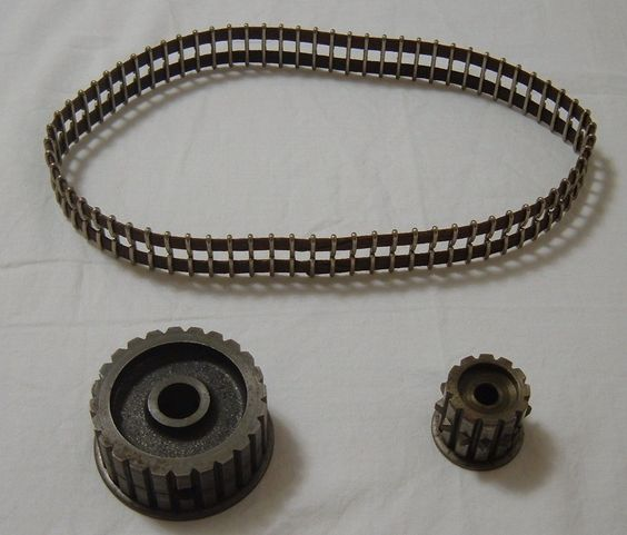 Timing Pulleys And Belts : Timing belt pulley and sewing machines on