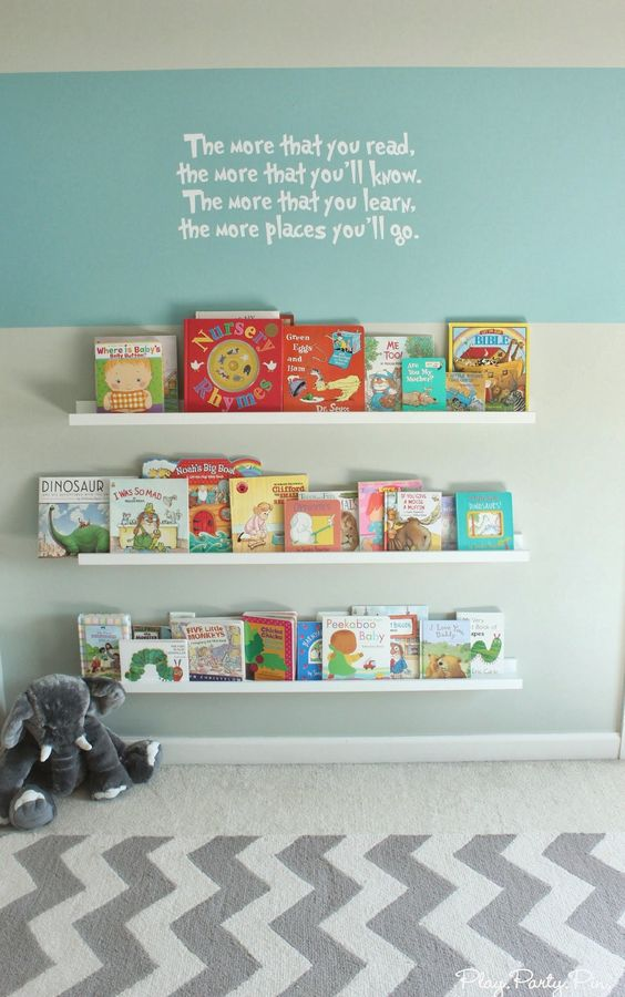 1000 Ideas About Nursery Bookshelf On Pinterest