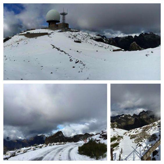 Hoje os picos mais altos da Madeira estão assim!! #madeiraisland #snow #mountains