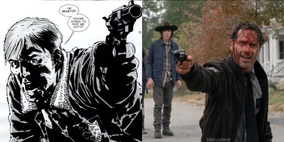 """Or what?! You're going to kick me out?!"" -Rick Grimes"