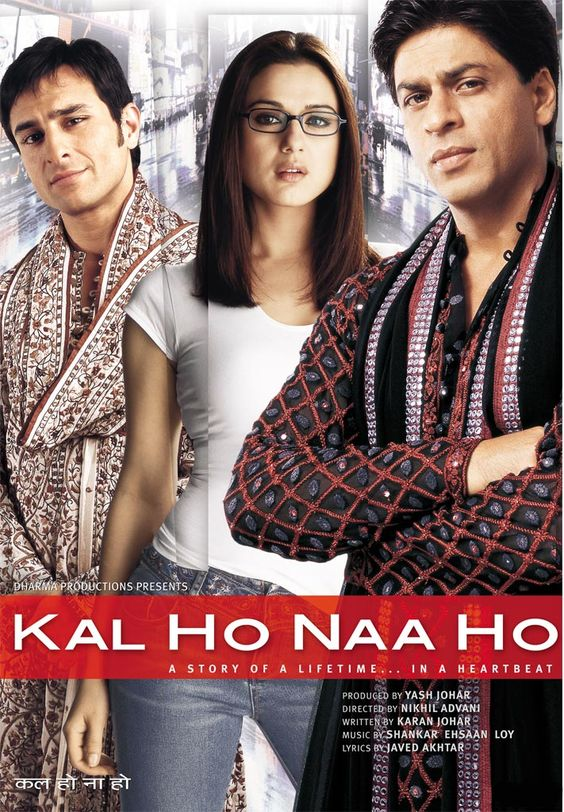 Kal Ho Naa Ho (2003) w/ Shah Rukh Khan, Preity Zinta and Saif Ali Khan = get on DVD with English Subtitles