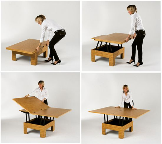 Coffee Table That Becomes A Dining Table! How Perfect For
