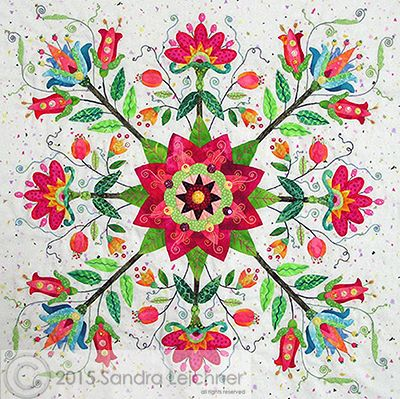 Love this applique block!  So festive! ~ margarita quilt block_full_sm xxx a new look for applique!