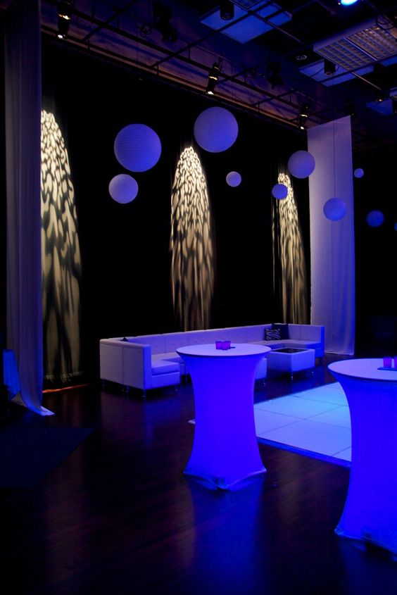 Schulte Room Event Set Up As Night Club Theme Venues