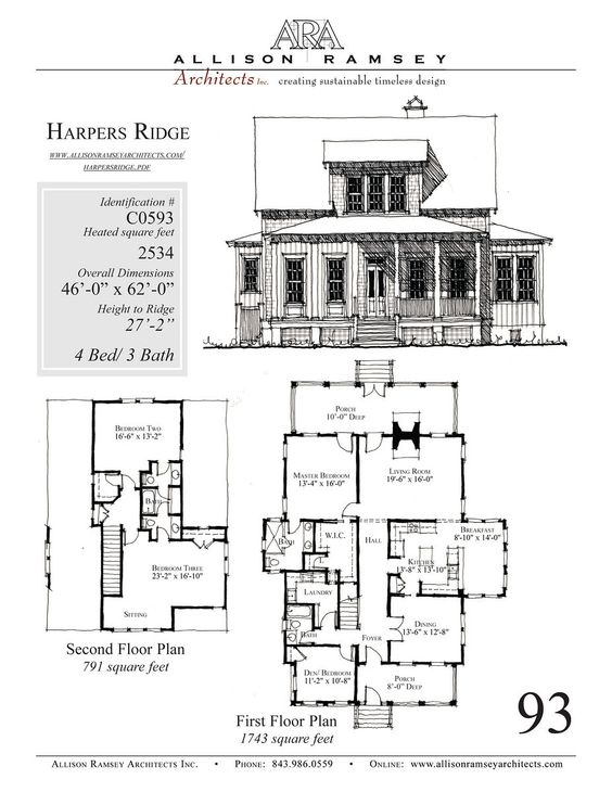 House plans architects and garage on pinterest - Allison ramsey architects ...