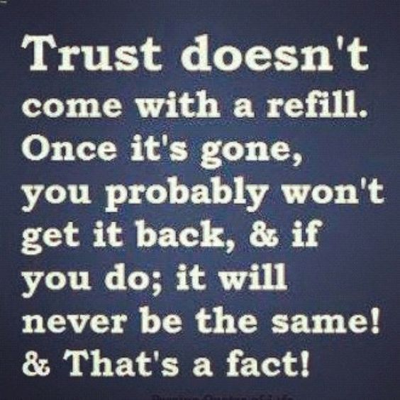 can you gain trust back in a relationship