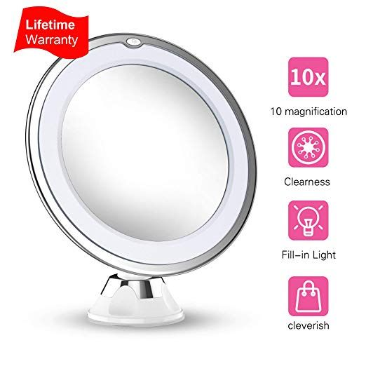 Updated 2019 Version 10x Magnifying Makeup Vanity Mirror With Lights Led Lighted Portable Makeup Vanity Mirror With Lights Makeup Vanity Mirror Makeup Vanity