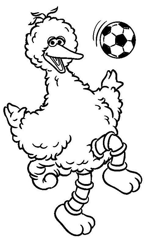 Big Bird Sesame Street Coloring Page Yellow Colour Sesame Street Coloring Pages Bird Coloring Pages Elmo Coloring Pages