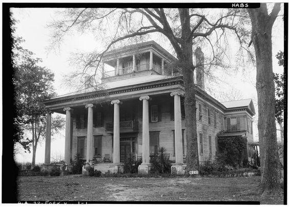 Rosemount Plantation. Greene County, Alabama, 1832. HABS