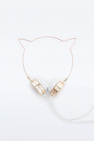 Skinnydip x Zara Martin de Urban Outfitters, un casque au design simple et minimaliste pour les amoureux des chats.