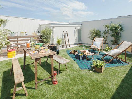 千葉県でデザイン住宅をお探しなら 屋上 バーベキュー 屋根のデザイン アウトドアインテリア