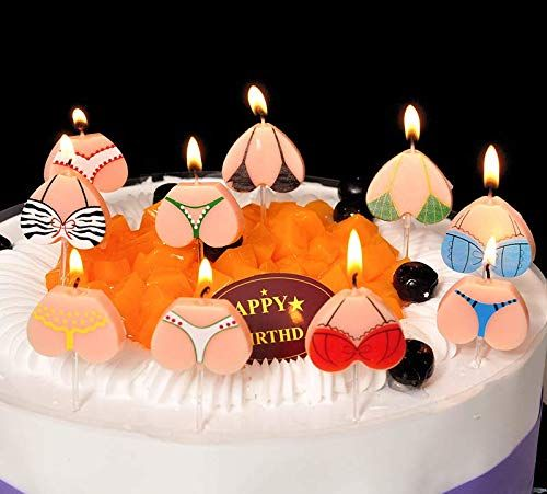 Marvelous Astra Gourmet Funny Bikini Tops And Bottoms Adult Party Candles Funny Birthday Cards Online Alyptdamsfinfo