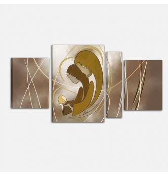Capezzale Camera Da Letto Moderna.Quadro Capezzale In Stile Moderno Per La Camera Da Letto Dipinto A