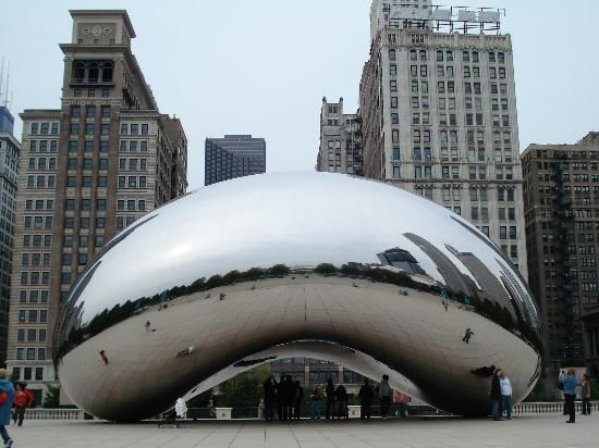 Cloud Gate or as we call it the Bean, a must see in Chicago