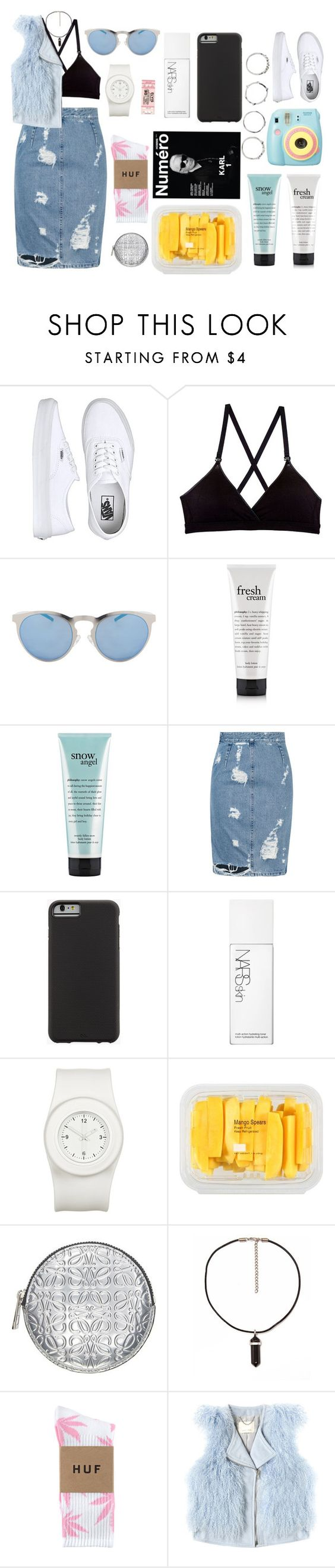 """Sin título #41"" by blenm ❤ liked on Polyvore featuring Vans, Cosabella, Illesteva, philosophy, Acne Studios, Case-Mate, NARS Cosmetics, The Unbranded Brand, MANGO and Loewe"