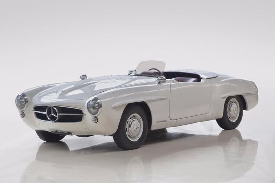 Looks a bit like a 300SL roadster at first glance, right? Nope, it's a 190 SL Clubsport, a very rare lightweight model only sold for the first few years of production.   - RoadandTrack.com