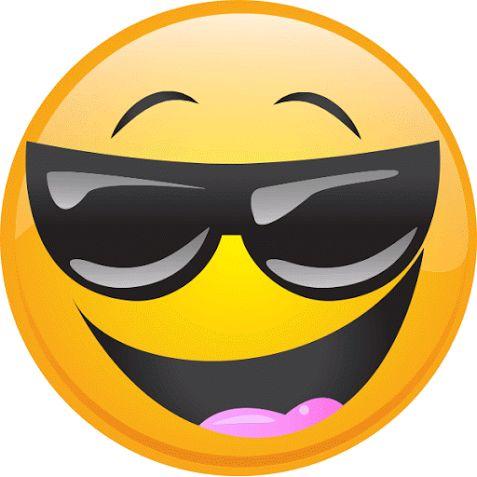 Emoticons emoticones emoticones emoji decoraci n - Emoticono gafas de sol ...