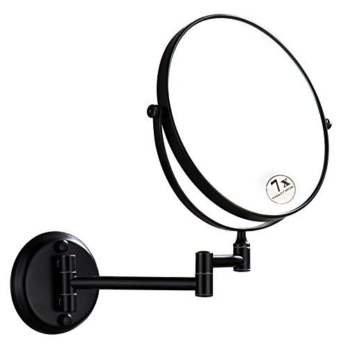 Dowry Oil Rubbed Bronze Wall Mount Magnifying Mirror With 10x Magnification 8 Inch Double Sided Swivel 12 Inch Extension D1306orb 10 Wall Mounted Magnifying Mirror Magnifying Mirror Oil Rubbed Bronze