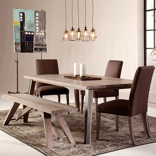 The Dartmouth Rectangular Dining Table Is A Modern Combination Of