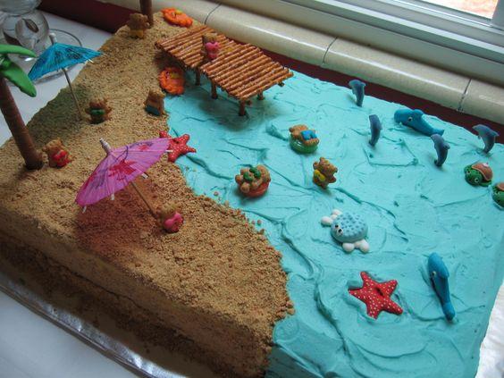 ADORABLE Beach Party Cake!