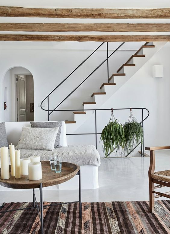 Gorgeous contemporary rustic villa with scandinavian influences