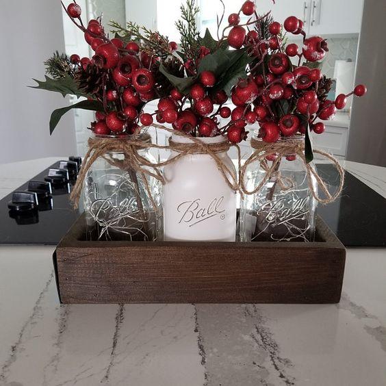 Decoración de Navidad decoración de la mesa de comedor de | Etsy