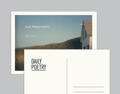 Consulter ce projet @Behance: «Daily Poetry» https://www.behance.net/gallery/3743741/Daily-Poetry