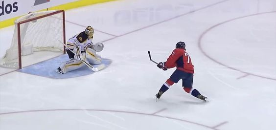 TJ Oshie may never score an easier goal. After a brilliant saucer pass by Nicklas Backstrom, Oshie was sprung on a breakaway against Tuukka Rask. Oshie, who looked behind himself to confirm he really was that open, deposited the puck five hole. He had no celebration after scoring because that was way too easy. Video Splits the defense, looks back, stuffs 5-hole #CapsBruins pic.twitter.com/nWrIIVmBbQ— Washington Capitals (@Capitals) February 2, 2017 The pass by Backstrom is a work of hoc...