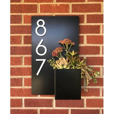 Modern Aspect Curb Appeal 1 Line Wall Address Plaque Customize Yes Plaque Color Grey Font Color Silver House Numbers Diy Curb Appeal House Number Plaque