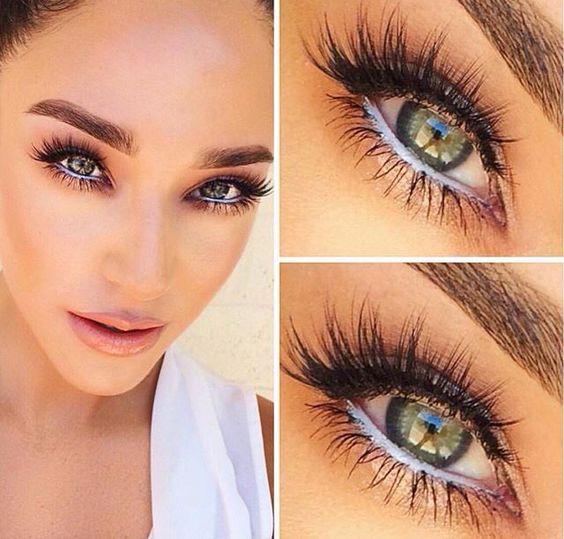 Bright eyes and wispy lashes