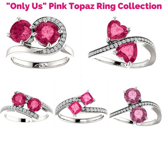 Pink Topaz Only Us Rings Collection by Apples of Gold