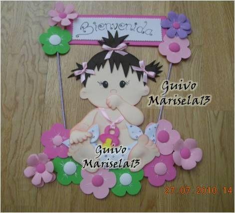 Letreros bienvenidos para recien nacidos en foami imagui - Manualidades decoracion bebe ...