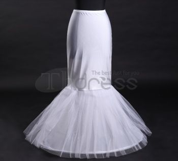 White waist fishtail wedding petticoat