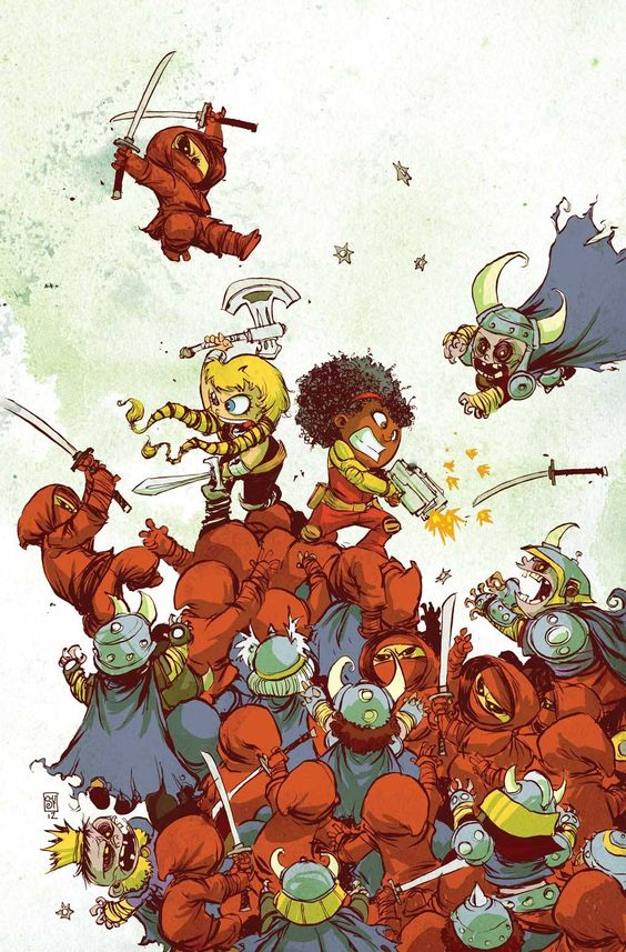 The Fearless Defenders by Skottie Young