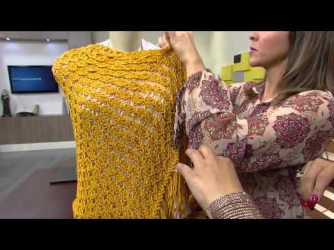 Gola em Tricô com Noemi Fonseca - Katia Ribeiro Crochê Moda e Decoração Handmade