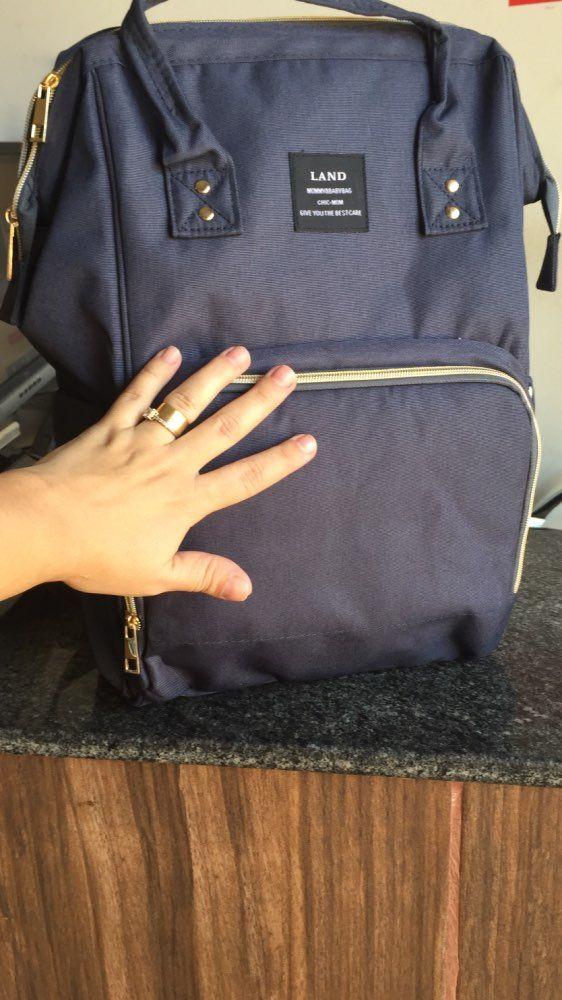 Customer Photo Review Free Shipping Blue Land Diaper Bag