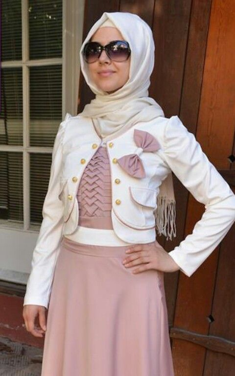 White Turkish Hijab