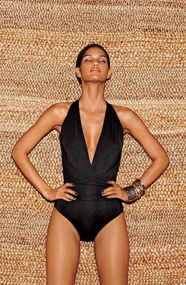 Hot Mama   Swimsuit   Nordstrom   Badgley Mischka Dip Back ...