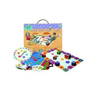 Made By Hands Make Your Own Games by Made By Hands. $19.98. Winner of several toy product awards. No cutting and no mess. Make-your-own game kit. Age: 6 and up. From the Manufacturer                Kids love making up their own games and with this multiple award-winning kit, they'll be inventing and designing their own board games, card games and even dice games. There's no cutting, no mess just hours of innovation. Comes in a kid-friendly, portable box with velcro closur...