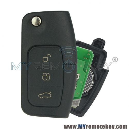 Flip Remote Car Key For Ford Id60 Chip Hu101 433 Mhz Ford Remote Key