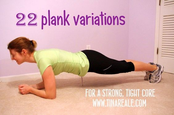 22 Plank Variations -- really good!