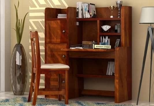 Find Classy And Elegant Study Table Furniture Online In India Wooden Street Here You Will Get Stylish A Wooden Study Table Study Table Study Table And Chair